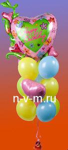 Шар с гелием,шар надутый гелием,шар фольгированный,цифра из шаров,букет из шаров