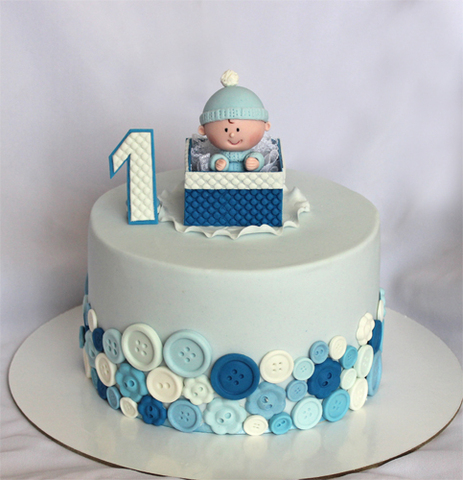 оформление торта на годик мальчику фото