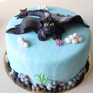 торт с драконом