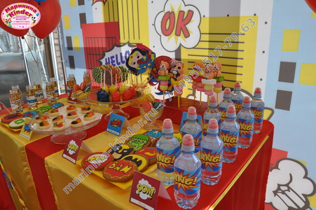 сладкий стол супергерои