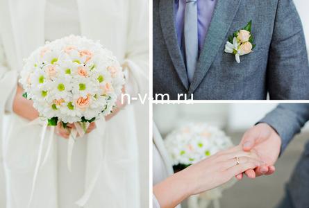 Свадебный букет № 76 Букет из роз, орхидей, ножка или портбукетница.  Доставка букета Москва, Лобня,