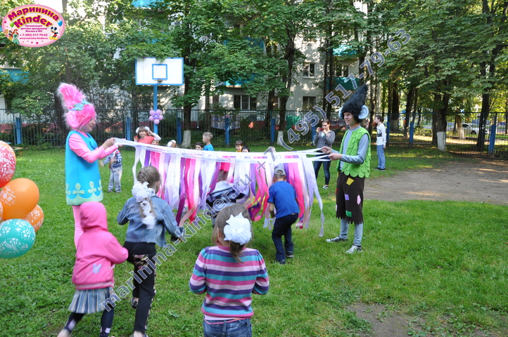 аниматоры розочка и цветан на детский праздник