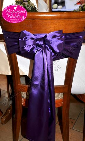 бантик на стул на свадьбу