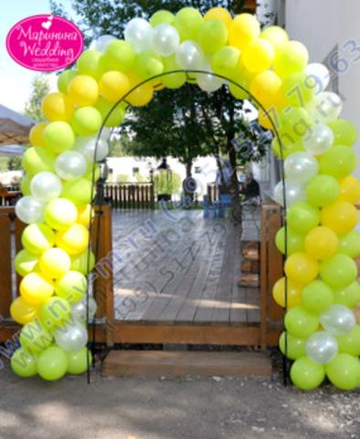 крученая арка из шаров на свадьбу