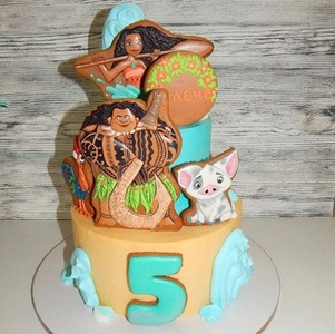 торт для девочки моана