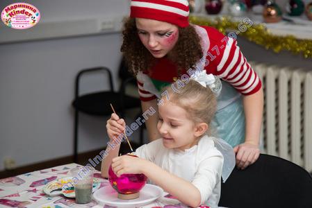 мастер класс по росписи новогодних шаров