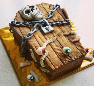 торт на вечеринку тёмных сил