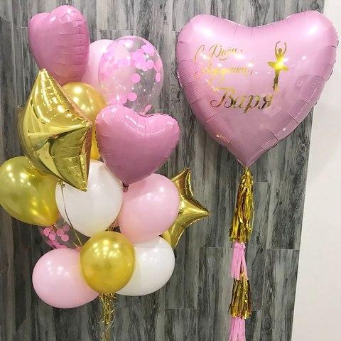нежно розовые шары