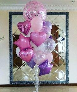 шар гигант с розовым конфетти