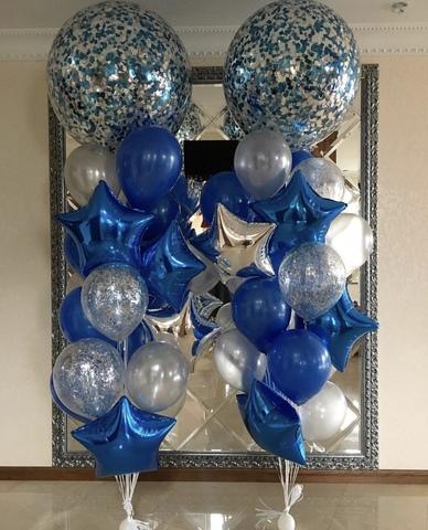 шары гиганты с синими шариками