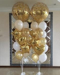 Два шара гиганта с золотыми и белыми шарами