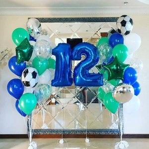 фольгированные цифры и фольгированные мячи