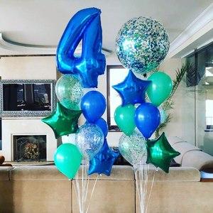 цифра шар гигант и шарики с гелием