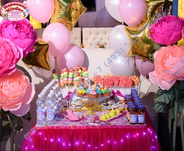 сладкий стол для девочки
