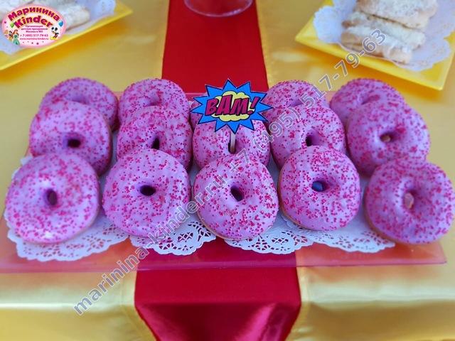 пончики на сладкий стол