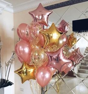 шары розовое золото и золото