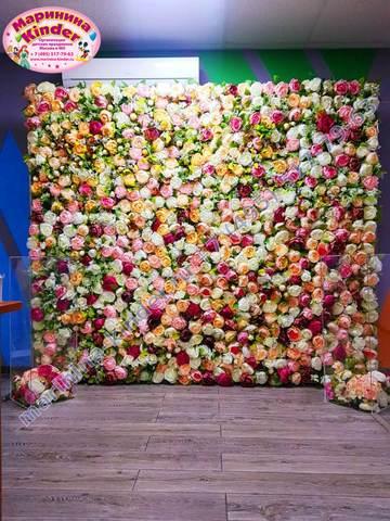 баннер цветочная стенка