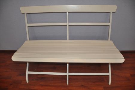 Скамейка белая, складная