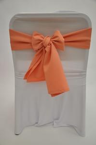 Бант персикового цвета