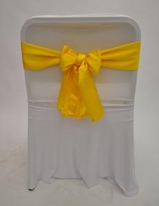 Бант желтый атлас