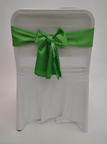 Бант зеленый атлас