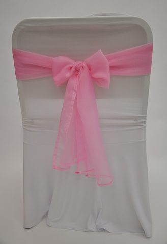 Бант нежно-розовая вуаль