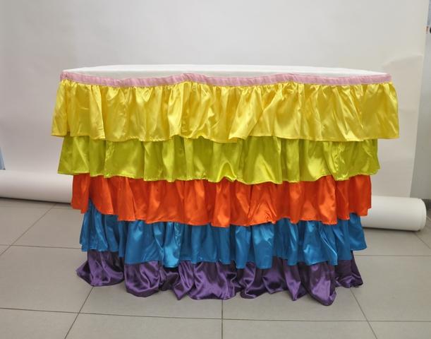 Юбка цветная