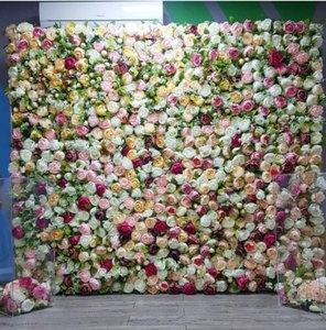 Фотостенка из искусственных цветов