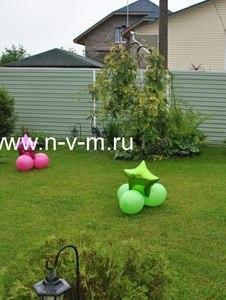 Композиция напольная из обычных и фольгированных шаров! Доставка шаров Лобня, Долгопрудный, Москва,