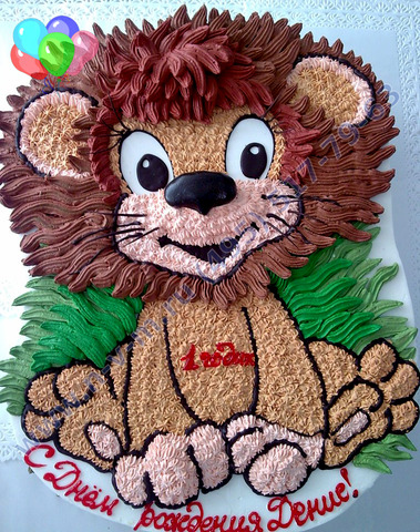 Торт на детский праздник кремовый