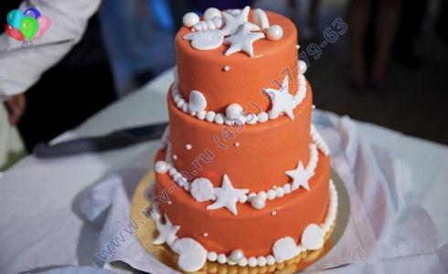 морской свадебный торт