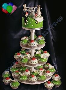 торт из капкейков на свадьбу