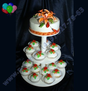 торт из капкейков