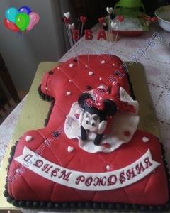 торт с минни маусом