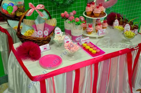 сладкий стол для принцессы