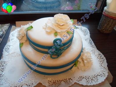 торт,  из марципана, на свадьбу, лобня
