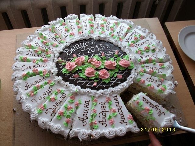 Торт на детский праздник минимальный