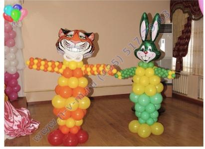 фгура заяц из шаров