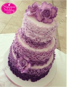 сиреневый торт