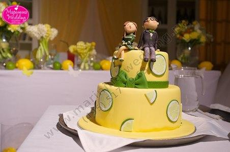 торт с лимонами