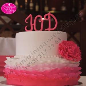 малиновый торт на свадьбу