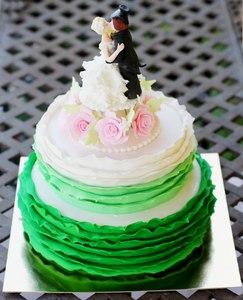 зеленый торт на свадьбу