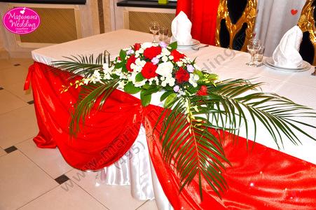 оформление свадьбы в красных тонах