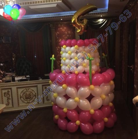 Торт из шаров фото