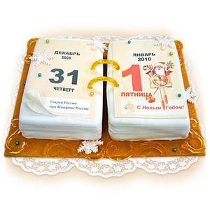 торт новогодний календарь