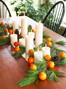 оформление стола на новый год