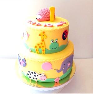 большой торт на годик