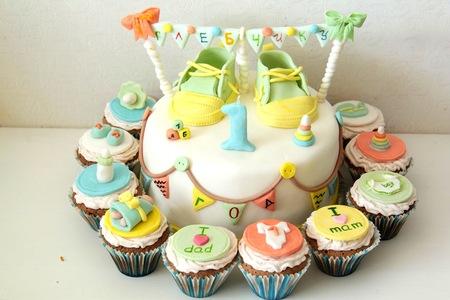 детский торт на годовасию