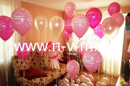 Украшение шарами день рождения девочки