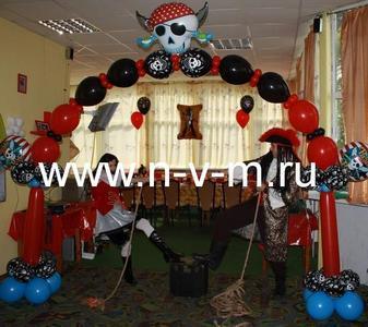 Украшения шарами пиратского день рождения